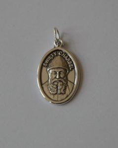 medalik srebrny świętego charbela